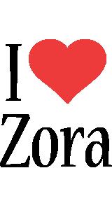 Zora i-love logo