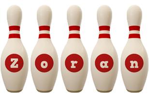 Zoran bowling-pin logo