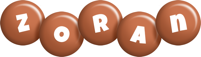 Zoran candy-brown logo