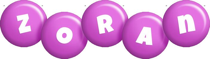 Zoran candy-purple logo
