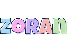 Zoran pastel logo