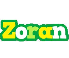 Zoran soccer logo