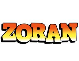Zoran sunset logo