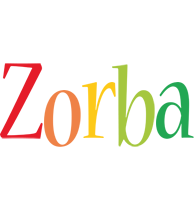 Zorba birthday logo