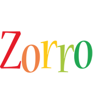 Zorro birthday logo