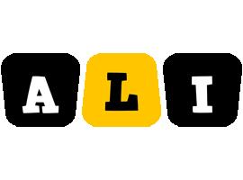 ali boots logo