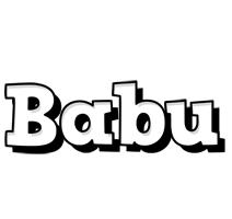 babu snowing logo