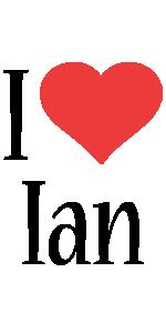 ian i-love logo
