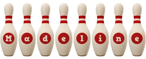 madeline bowling-pin logo