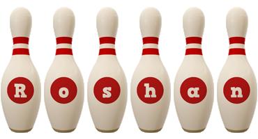 roshan bowling-pin logo
