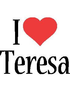 teresa Logo | Name Logo Generator - I Love, Love Heart